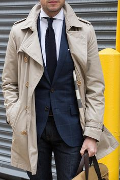 burberry trench with jeans | He Spoke Style