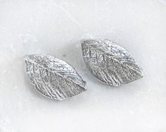 1810_Rhodium plated pendant 14x41 mm, Silver pendant, Leaf pendant, Leaves pendant, Silver findings,Glossy silver component for jewelry_2pcs