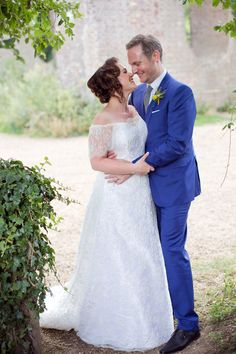 A Railway Museum Wedding with an Elegant Handmade Lace Gown and Maids in Navy Blue   Love My Dress® UK Wedding Blog