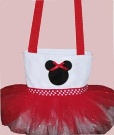 Red Minnie Mouse Tutu Tote Bag by SewPizazzed on Etsy, $24.99