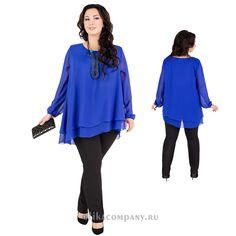 Блуза Ева 001 синяя Размеры 70-78 Цена 3900 руб Быстрая доставка, оплата при получении. Производство Россия, Санкт-Петербург
