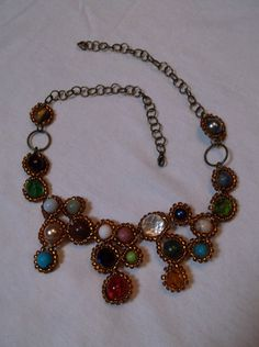gemstones and seed beads
