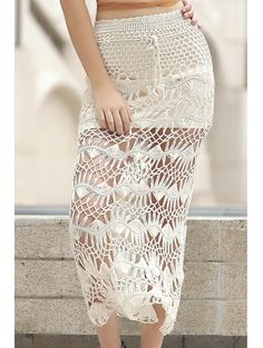 SHARE & Get it FREE | Solid Color Cut Out High Waist A-Line Crochet SkirtFor Fashion Lovers only:80,000+ Items • New Arrivals Daily Join Zaful: Get YOUR $50 NOW!