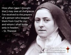 St. Therese Quotes On Prayer | St. Therese and quote