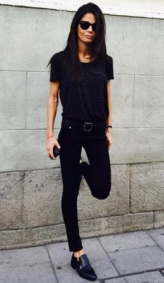 Street style | All-black everything