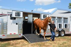 Trailer Organization, Gooseneck Trailer, Fifth Wheel Trailers, Two Horses, Horse Trailers, Equestrian, Transportation, Trucks, Travel