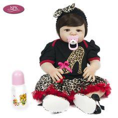 NPK Corpo Cheio de Silicone Boneca Reborn Bebê Para Casa de Jogo Menina Brinquedo Do banho 57 CM Vinil Macio Lifelike Bebês Engatinhar Boenca Bonecas de Moda