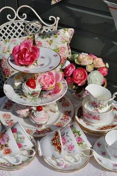 Just like with Aunt Rose loved tea time with her!