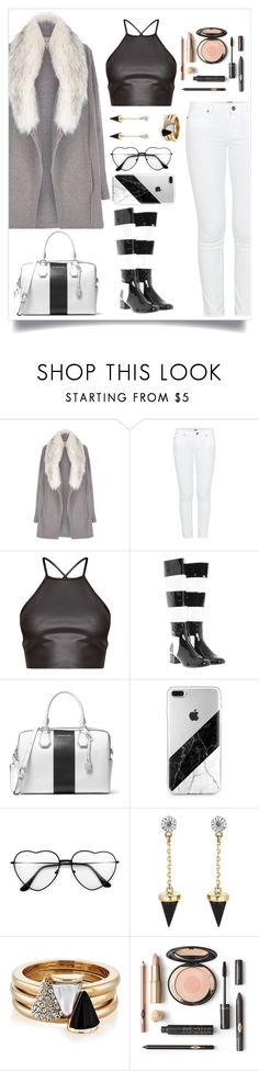 """""""Untitled #911"""" by giihcupcake ❤ liked on Polyvore featuring River Island, Paige Denim, Yves Saint Laurent, MICHAEL Michael Kors and Brixton"""