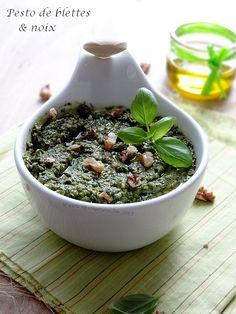 Pesto de blettes aux noix ( Et j'ai testé l'huile d'olive Terre de Crète pour vous … } on http://www.epicesetmoi.be