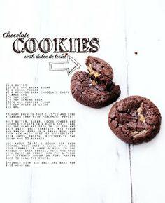 Dulce de leche choclate cookies