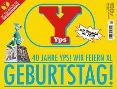 Kennen Sie YPS? Das karierte Känguru? Das Magazin mit den coolsten Gimmicks am Kiosk? YPS feiert heute seinen 40. Geburtstag & wir gratulieren herzlich.