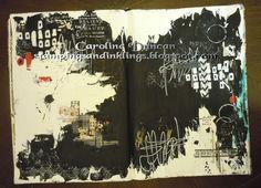 art journal page by Caroline Duncan ~ stampingsandinklings.blogspot.com 48Weeks, Donna Downey