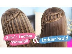 Cute Girls Hairstyles help us to master two styles, the feather waterfall braid and a ladder braid combo, that both look far more challenging than they really are. Cute Girls Hairstyles, Easy Hairstyles For Long Hair, Braids For Short Hair, Braids For Kids, Beautiful Hairstyles, Teenage Hairstyles, Trendy Haircuts, Curly Hair, Braided Crown Hairstyles