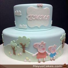 Pepa Peep Themed Cake