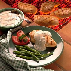 Grilled Chicken Breasts With Wine Sauce from Land O'Lakes