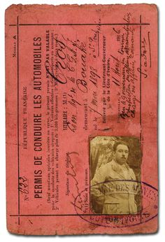 Vintage French driving license