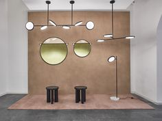 Matter Made - Discus Lights - Abal Mirrors - Orbit Stools