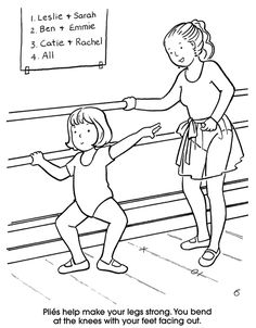Welcome to Dover Publications I Love Ballet Ballerina Coloring Pages, Dance Coloring Pages, School Coloring Pages, Coloring Sheets, Colouring, Coloring Books, Ballet Crafts, Dance Crafts, Dance Camp