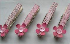 Ideas para decorar pinzas de la ropa.