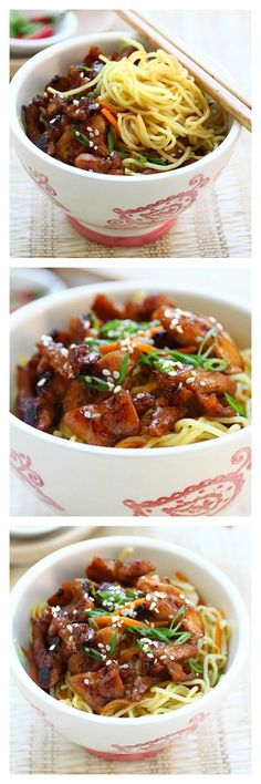 Chinese Chicken Noodles #recipe from @rasamalaysia