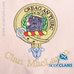 Clan MacLaren Custom Embroidery @scotclans. Free worldwide shipping available