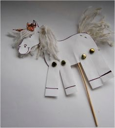 kreativgyermek: Referenciák Farm Animal Crafts, Horse Crafts, Farm Animals, Fun Crafts, Diy And Crafts, Crafts For Kids, White Day, Pony Party, Drawing Techniques