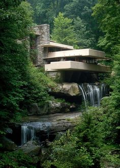 Frank Lloyd Wright. Fallingwater; Edgar Kaufmann House, Bear Run, PA, 1934-37.