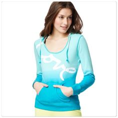 """Love ombré hoodie sweater Blue ombré """"love"""" hoodie. Size S. Brand new without tags. Aeropostale Tops"""
