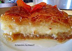 """Νηστίσιμο """"γαλακτομπούρεκο"""" Greek Sweets, Greek Desserts, Greek Recipes, Vegan Sweets, Vegan Desserts, Fun Desserts, Dessert Recipes, Cookbook Recipes, Cooking Recipes"""