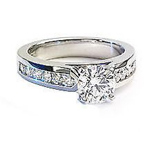 0.84 cts Sparkling SI Clarity Sparkling Real Diamonds Ring In 14Kt Gold