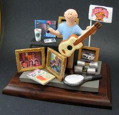 50th birthday gift caketopper custom figurine by www.magicmud.com $250   magicmud@magicmud.com  #50th #40th #30th #statue #figurine #cake #toppers  #custom #personalized #anniversary #birthday #cake toppers #figurine #gift
