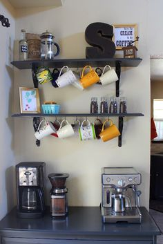 The Coffee Bar. Need this in my house  ( And my apartment has a built in desk that this would be perfect for! )