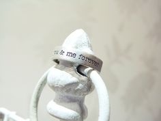 You and me forever - Sterling silver ring - Unisex ring - Personalized ring. €42,00, via Etsy.