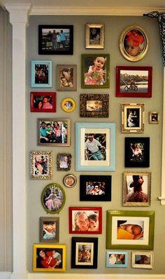 disposição de porta retratos