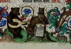 medieval animals playing music