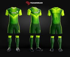 Here are a couple of our new soccer uniform designs for both youth and adult.Get your custom uniform today Football Uniforms, Team Uniforms, Football Shirts, Netball Dresses, Cheerleading Outfits, Soccer Kits, Soccer Shorts, Uniform Design, Soccer Training