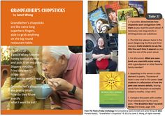 """Share the poem """"Grandfather's Chopsticks"""" by Janet Wong along with the Take 5! activities from THE POETRY FRIDAY ANTHOLOGY® FOR K-5 edited by Sylvia Vardell and Janet Wong (Pomelo Books, 2012)"""