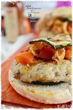 DECORECETAS: Mini hamburguesa de calabacín con toque picante