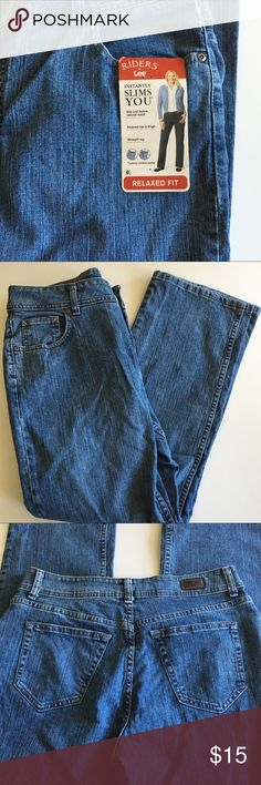 "NWT Riders by Lee Relaxed Fit Jeans NWT jeans, never worn. 99% cotton and 1% spandex. Measures 17 1/4"" across at waist and 29"" inseam. These are a 14P or 14 short. Please ask questions and check out bundling to save. Lee Jeans"