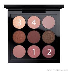 MAC Burgundy Times Nine Eyeshadow Palette Makeup Look | Beauty Gala