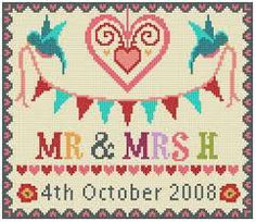 cross stitch wedding samplers free patterns - Google Search
