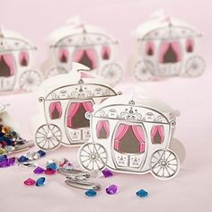 Enchanted Carriage Fairytale Themed Favor Boxes