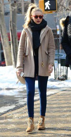 Gigi Hadid's best red carpet and street style looks: Soho New York City, February 2014