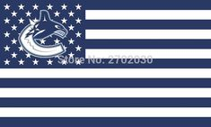 #VANCOUVER #CANUCKS #HOCKEY #SPORTS #TEAM #STAR #& #STRIPE #US #NATIONAL #FLAG #3FT #X #5FT #CUSTOM #BANNER #WITH #SLEEVE #TWO #GROMETS #90*150CM