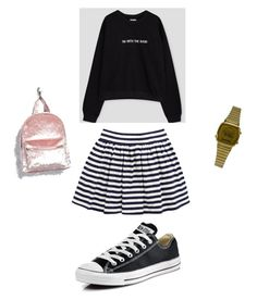 """""""hoodie+skjørt"""" by andreakri on Polyvore featuring Converse, Casio and Forever 21"""