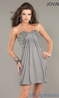 Short strapless sweetheart dress by Jovani
