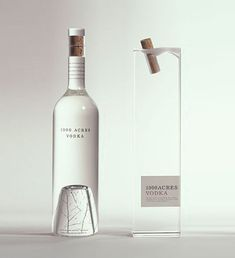 Vodka Packaging by Arnell 1000 Acres Vodka. I love the subtle tree at the bottom of the Acres Vodka. I love the subtle tree at the bottom of the bottle Cool Packaging, Bottle Packaging, Brand Packaging, Packaging Design, Bottle Labels, Milk Packaging, Chocolate Packaging, Beer Labels, Coffee Packaging