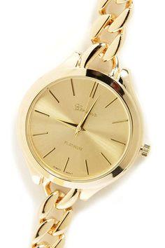 Cute Gold Watch - Men's Style Watch - $23.00