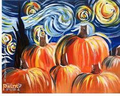 fall paint night - Google Search